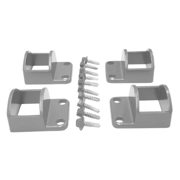 Panel Fittings Set - 4 brackets with screws - Silver