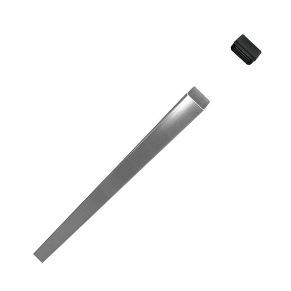 Fence Post with Cap 1.8m - to concrete in ground (or cut & screw to wall) - Silver