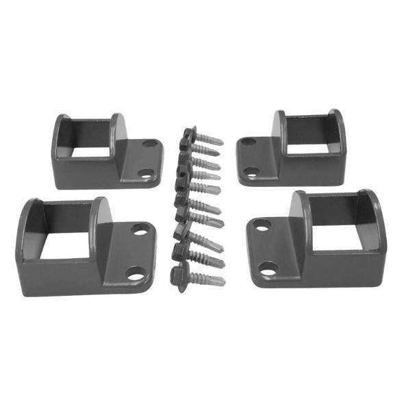 Panel Fittings Set - 4 brackets with screws - Woodland Grey