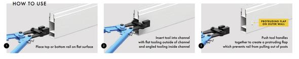 PVC Rail Punch Tool Guide