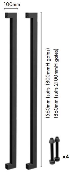 DIY Custom Width ALUMINIUM Security Gate Kit - 1800mm High