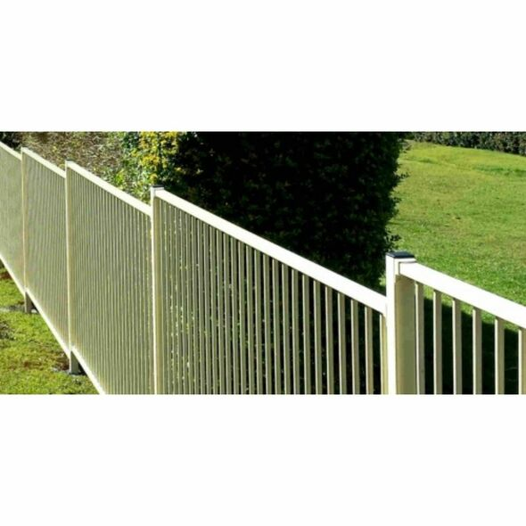 Pool Fence Safety Panel - 2.4m wide (or 2.45m*) x 1.2m high - Primrose Cream