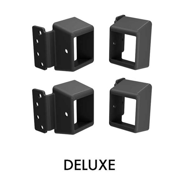 Heavy Duty DELUXE Security Brackets - 40x40mm  - PACK of 4 - BLACK - DETE spec, compliant.