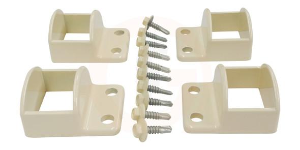 Primrose Fence Panel Fittings Set - 4 brackets with screws