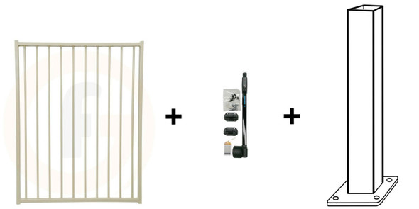 Pool Safe Gate Kit - with flanged latch post