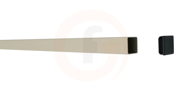 2.1m Long Aluminium Fence Post Primrose