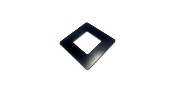 Black cover plate for 50x50mm fence post.