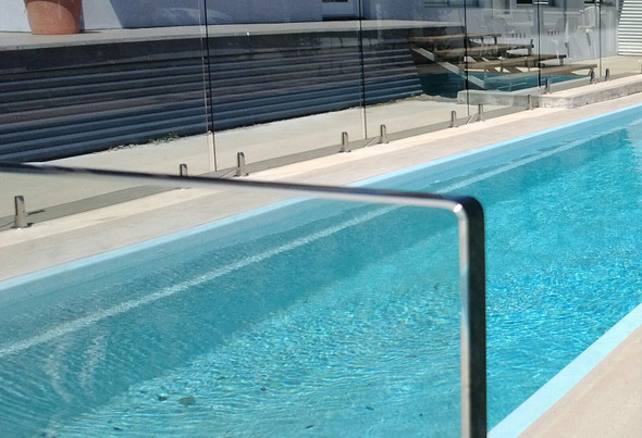 550Wx1200Hx12mm Frameless Glass Pool Fence Panel, 'A' Grade Quality, Australian Standards Pass Mark, Clear Toughened, Polished Edges and Corners