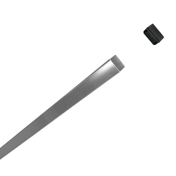 Extra Long Fence Post (used also as pool gate latch post) with Cap, 2.1m - to concrete in ground - Colour is your choice!