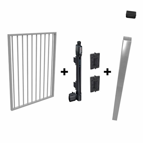 Pool Safe Gate Kit - with latch post (2.1m) to concrete inground - Colour is your choice!