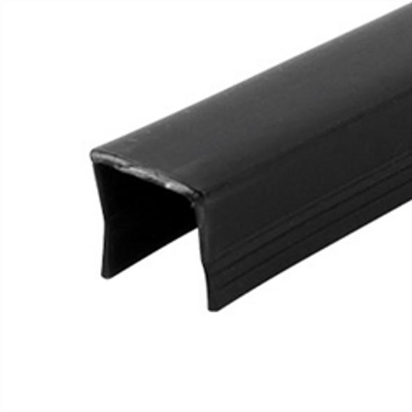 Glazing rubber for stainless steel top rail on 12mm frameless glass panels.