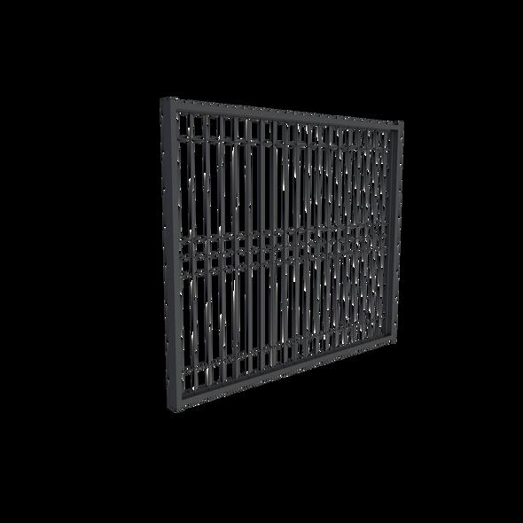 BlackWire Weld Mesh Gate, Galvanized Steel Powdercoated Black. 960mm wide.