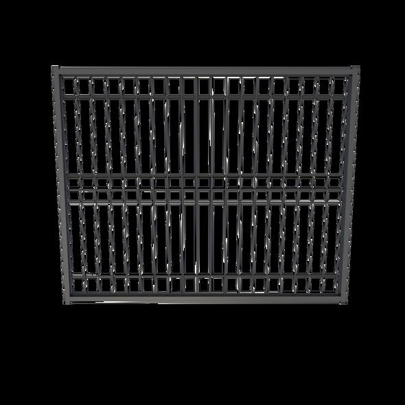 BlackWire, Weld Mesh Gate, Galvanized Steel Powdercoated Black. 1500mm wide.