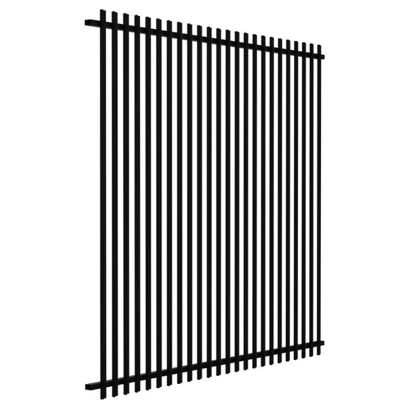 1.8m high SlatFence Pool Safe Fence Panel - 1.8m high x 2m wide, Black or Pearl White