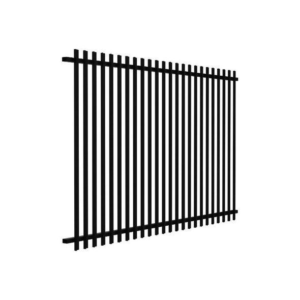 1.2m high SlatFence Pool Safe Fence Panel - 1.2m high x 2m wide, Black or Pearl White