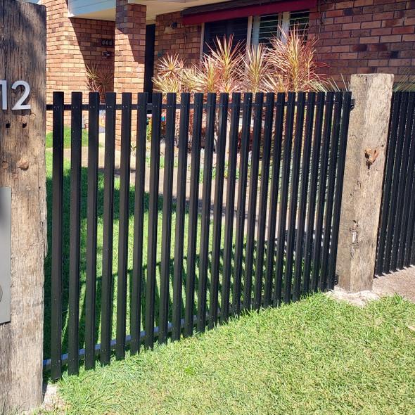Vertical Slat Fence Panel - Black