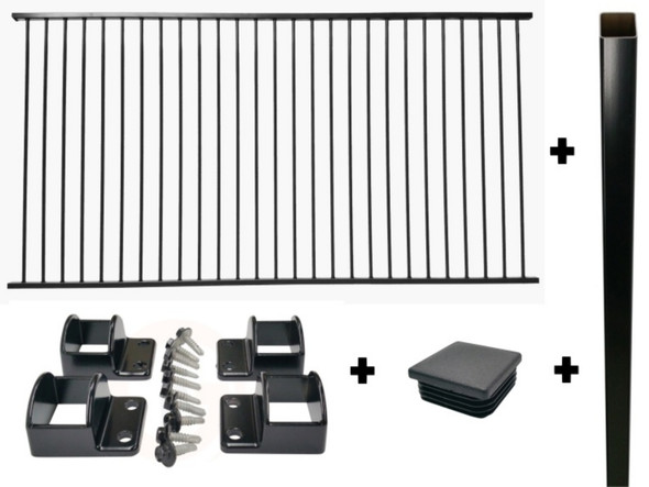 Craziest! Best Price! Cheapest! CRAZY Package Deal on Black Aluminium Pool Fencing in Gold Coast and Brisbane.