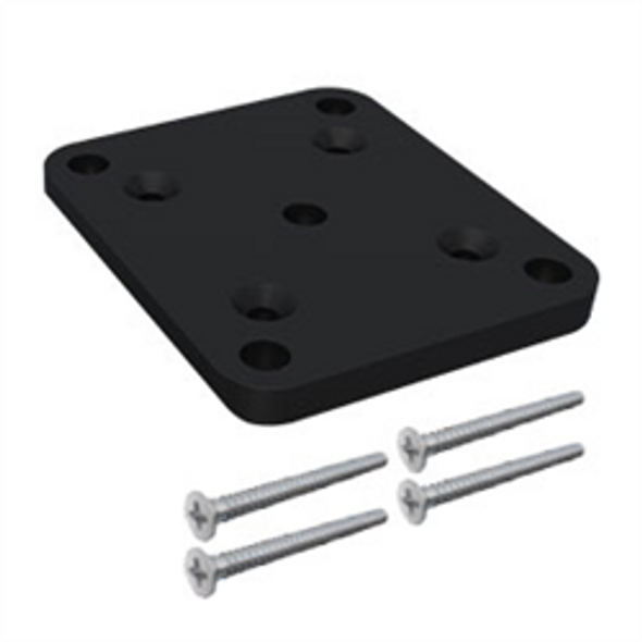 50x50 Base Plate Kit to suit Heavy Duty 50x50mm SlatFence Post. Black or Pearl White