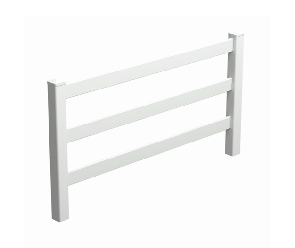 3 Rail Fence Panel - Pack of 3 Rails - 2388mm long (POSTS SOLD SEPARATELY)