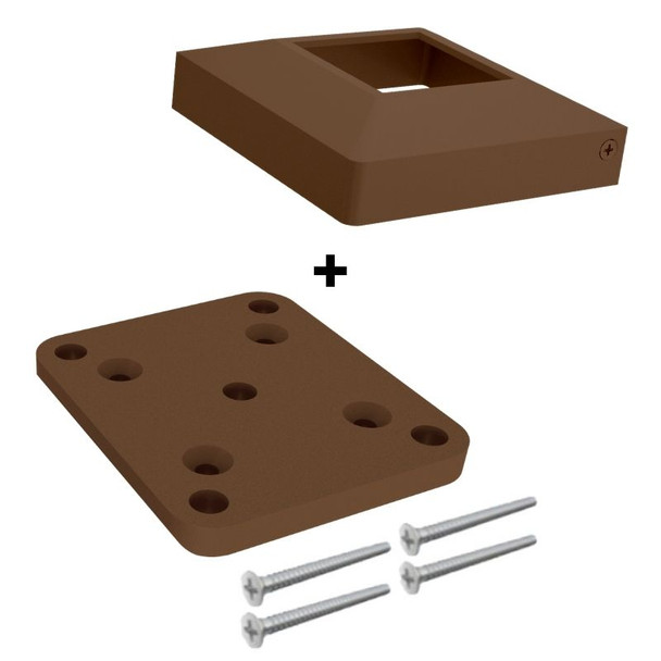 Base Plate & Cover Kit for 50x50mm 'Timber Look' Posts