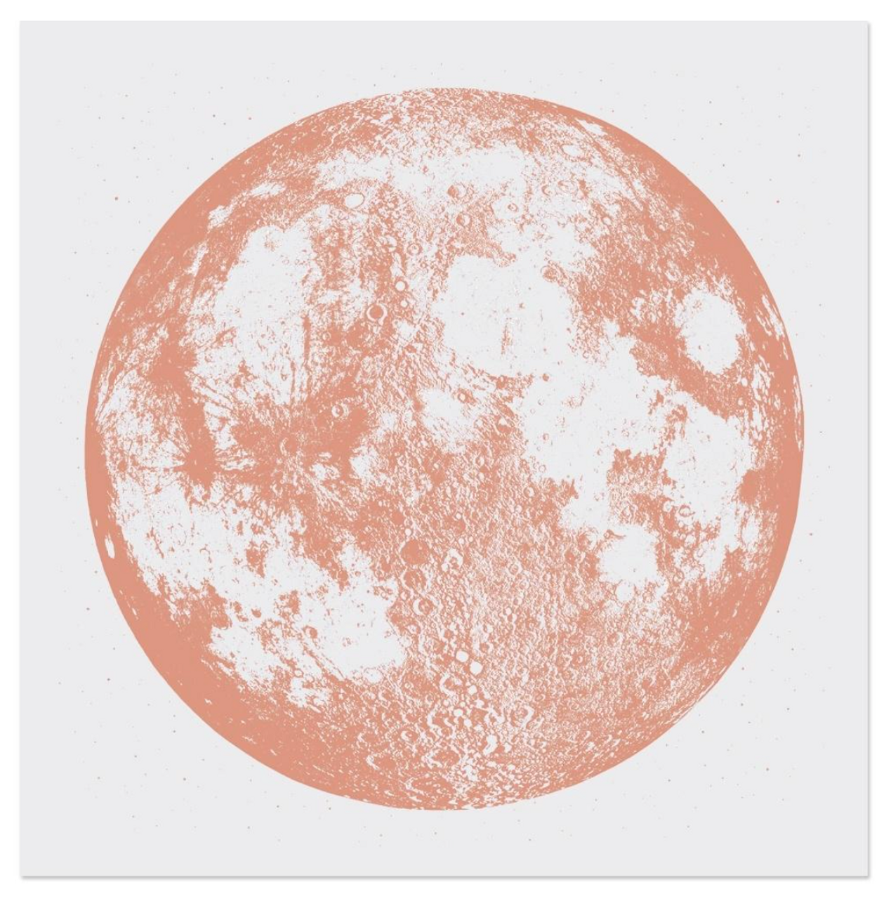 Copper Moon On Grey Limited Edition Print By A Little Lark