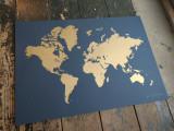 Gold World Map
