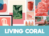 Get those walls bang on trend! Living Coral