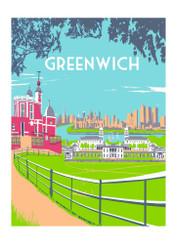 Greenwich Screen Print