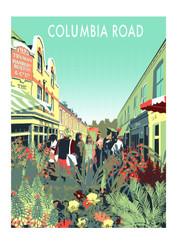 Columbia Road Flower Market Screen Print