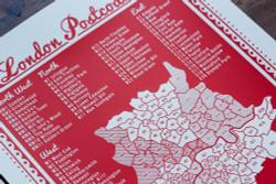 London Postcodes - Limited Edition Print