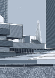 National Theatre and Shard - Limited Edition Print