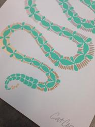Mint & Gold Serpent