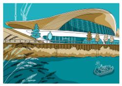 Aquatics Centre - Limited Edition Print