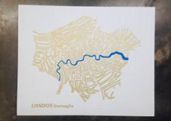 Mini Print A4 Gold London