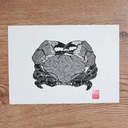 Crab Lino Print