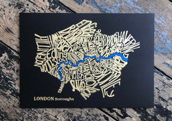 London Boroughs A4 Black and Gold