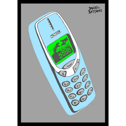 Year 2000 Mobile Phone (Pale Blue)