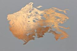 Lion Copper Print