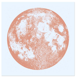 Copper Moon on Blue - Limited Edition Print