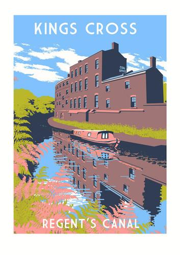 King's Cross, Regent's Canal Art Print
