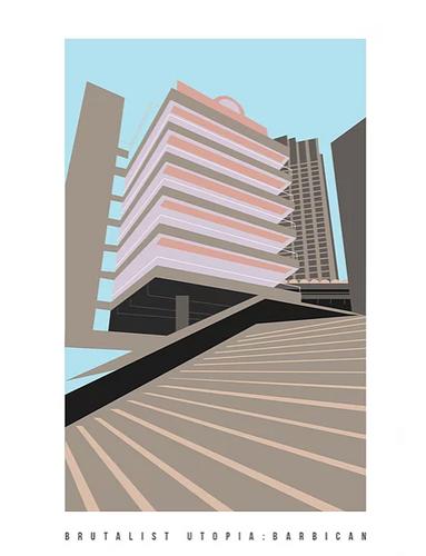 Brutalist Utopia: Barbican Art Print