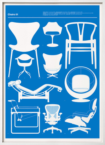Chairs I (Blue)