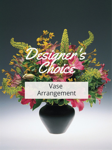 Designer's Choice Vase Arrangement:  colorful flower arrangement in a vase