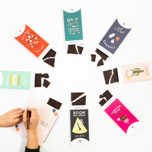 Chocolate greeting card from Sweeter Cards.  It's a greeting card...and it's a delicious chocolate bar!  What could be better?