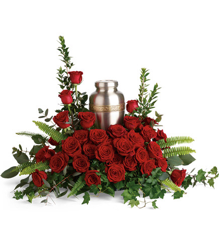 Forever in Our Hearts Cremation Tribute Arrangement