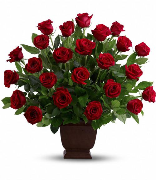 Rose Tribute Sympathy Arrangement