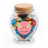 Pink Balloon Birthday Heart Glass Jar