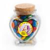 Yellow Birthday Heart Glass Jar
