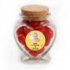 Yellow Bee Birthday Heart Glass Jar
