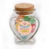 Pink Birthday Heart Glass Jar
